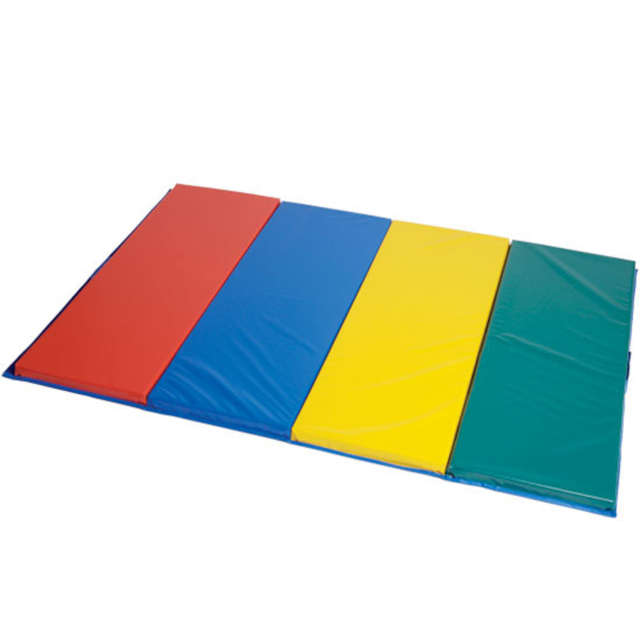 gymnastics folding image gym pad fold blue mat landing exercise mats red panel inflatable tumbling free shipping
