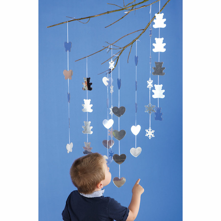 Sparkly Decorative Mirrored Mobile Collection  large