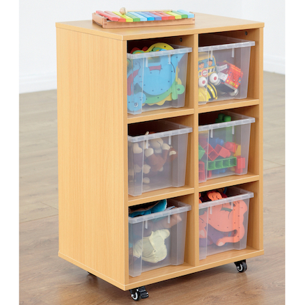 Open Storage Unit with Six Large Compartments  large