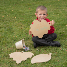 TTS Wooden Leaf Mark Making Boards with Stand  medium