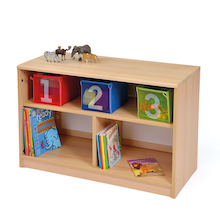 Room Scene Bookcase with Mirrored Back Panel  medium