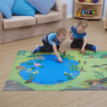 Small World Nature Reserve Themed Play Mat  medium