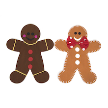 Greyboard Display Gingerbread Men 3pk  medium