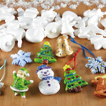 Assorted Polystyrene Christmas Decorations 35pk  medium
