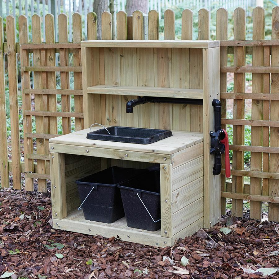 Buy Outdoor Wooden Sink With Pump