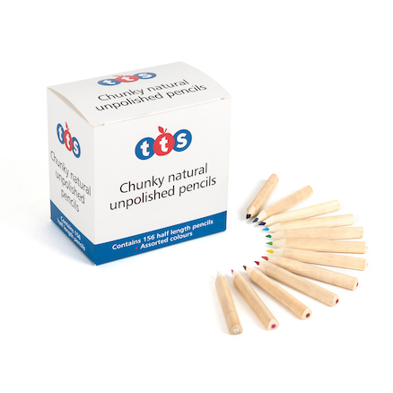 TTS Chunky Unlaquered Colouring Pencils  large