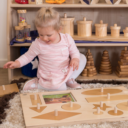 Wooden Giant Explorer Peg Puzzle Board  large