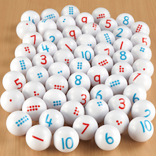 Counting and Number Ping Pong Balls 1-10 60pcs  medium