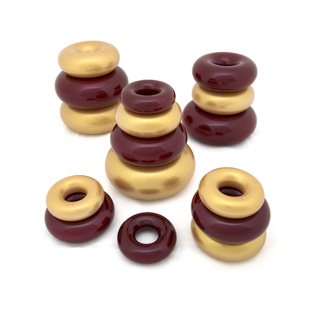 Marvellous Metallics Coloured Stacking Donuts 16pk  large
