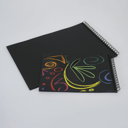 Pisces Black Paper Spiral Sketchbook A3 100gsm  large
