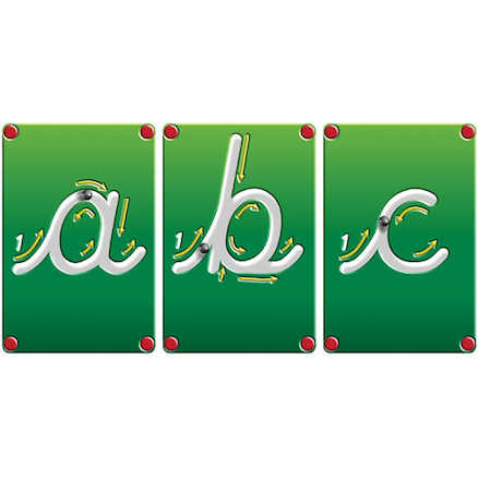 Wooden Blocks Magnetic Cursive Letters 26pcs  large