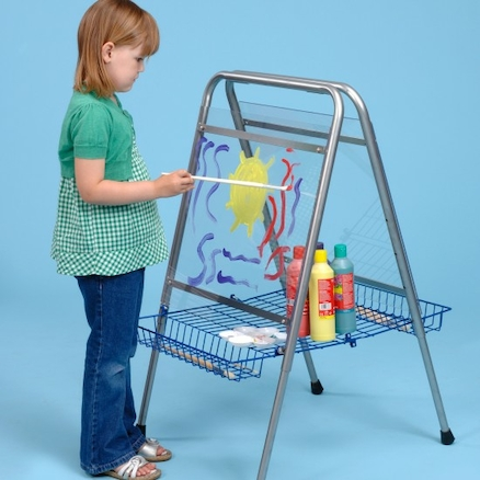 Height Adjustable Floor Standing Toddler Easel  large