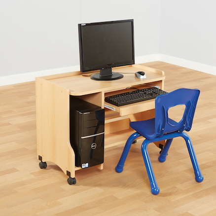 Child\'s Beech Computer Desk H600mm  large