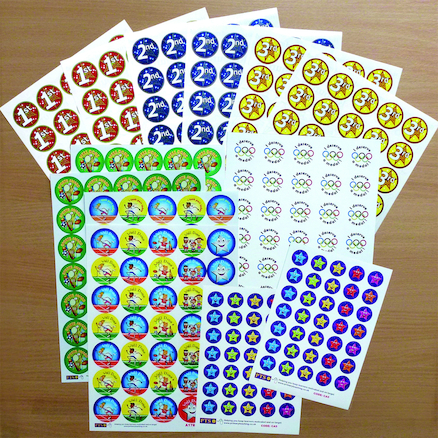 Assorted PE and Sports Day Stickers 315pk  large