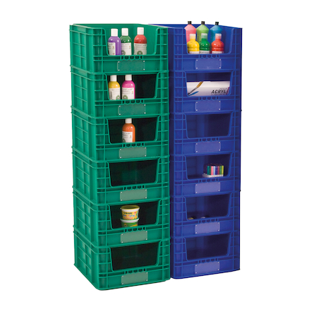 Outdoor Plastic Stackable Storage Crates  large