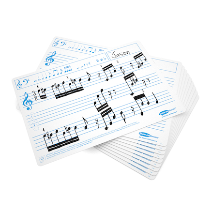 A4 Music Notation Whiteboards 35pk  large