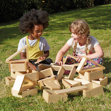 Wooden Mini Hollow Blocks   medium