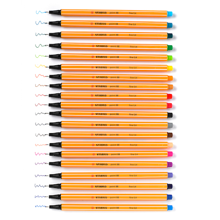 Stabilo\u00ae Point 88 Fineliner Pens and Case 20pk  large