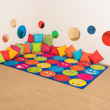 Emotions Faces Interactive Rug  medium