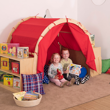 Wooden Framed Playtent with Book Storage  medium