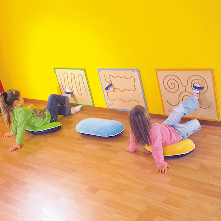 Wooden Manipulative Gross Motor Foot Wall Panel  large