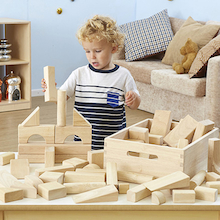 Standard Wooden Unit Blocks 50pcs  medium