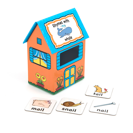 Rhyme Houses Sorting and Posting Game 60pcs  large