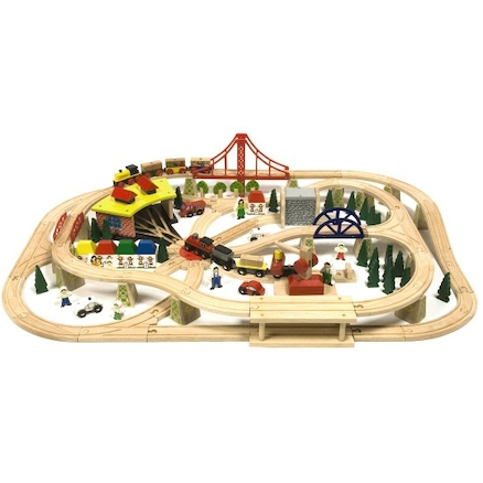 Small World Wooden Freight Train Set  large