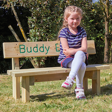 Mini Outdoor Wooden Buddy Bench  medium