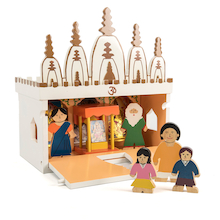 Wooden Mandir Model  medium