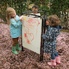 Fold Away Toddler Easel Assorted Drawing Surfaces  small
