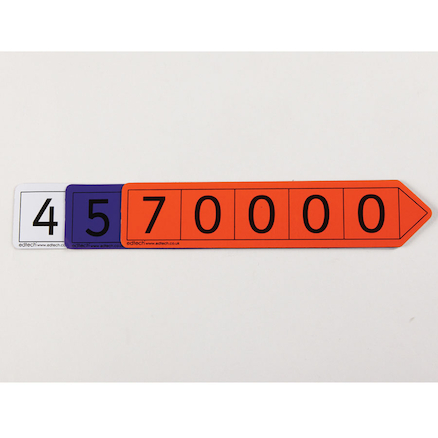Magnetic Vinyl Place Value Arrows Millions  large
