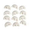 White Flocked Carnival Face Masks 12pk  small