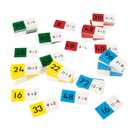 Colourful Multiplication Dominoes 24pcs  large