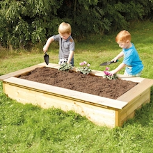 Wooden Rectangular Sandbox and Planter  medium