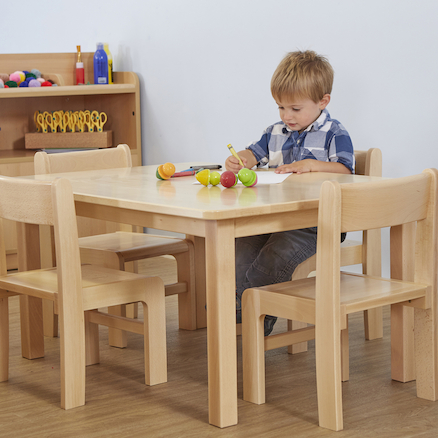 Renworth Early Years Natural Wooden Furniture Set  large