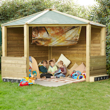 Wooden Outdoor Corner Play Cottage  medium