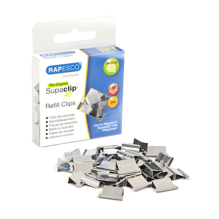 Supaclip 40 Refill Clips 50pk Stainless Steel  large