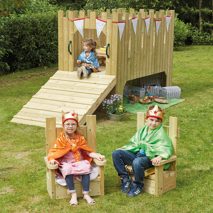 Buy Outdoor Wooden Role Play Castle And Thrones Tts