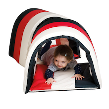 Black and White Striped Soft Baby Tunnel  medium
