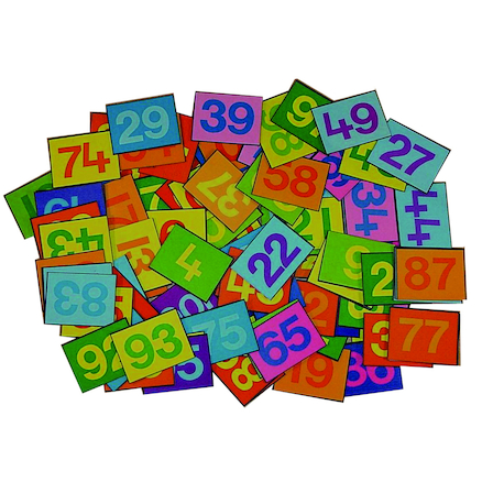 Colourful 1\-100 Felt Number Tiles  large