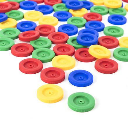 Assorted Plastic Wheels 100pk  large