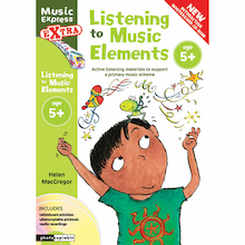 Listening to Music Elements Book and CD 5+  medium