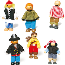 Small World Pirate Dolls 6pcs  medium