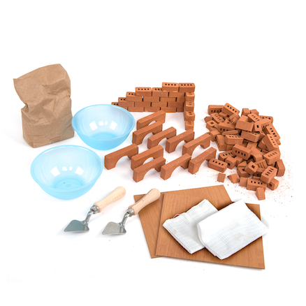 Bucket of Bricks and Building Materials 139pcs  large