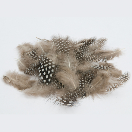 Black and White Speckled Feathers 28g  large