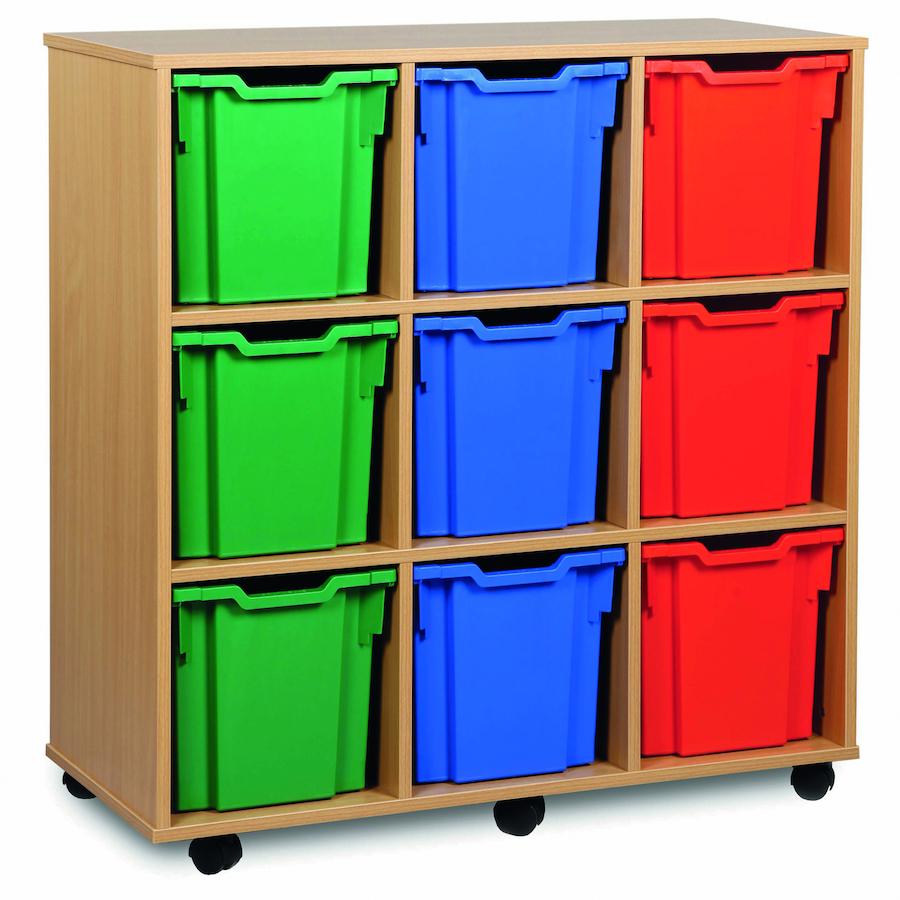 Buy Mobile Tray Storage Unit With 9 Jumbo Trays Tts