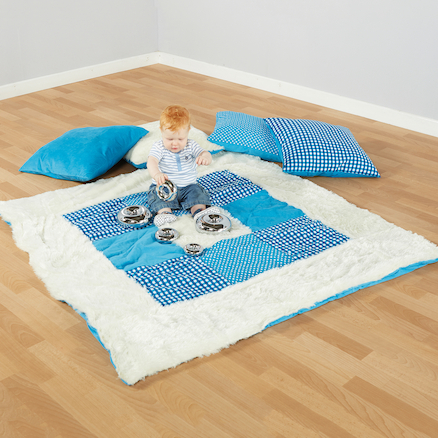 Teal Textured Baby Blanket and Cushions Offer  large