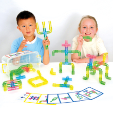 Translucent Plastic Pipe Builders 80pcs  medium