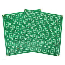 Write on Vinyl Hundred Squares 1-100  medium